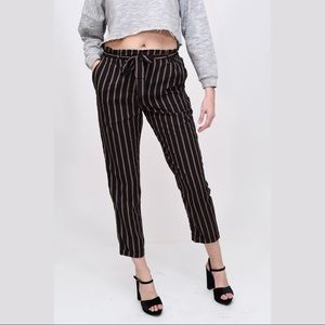 3ea0563ae066 Pants - Striped Paper Bag Waist Trouser Pants work pants